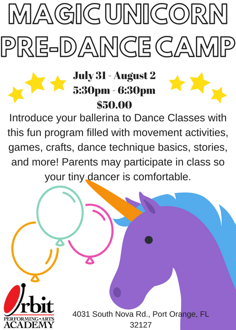 MAGIC UNICORN PRE-DANCE CAMP